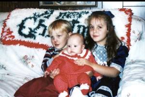 Grandma, Jimmy, Nicole, and me--Christmas 1993.