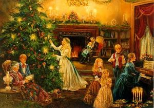 Traditional Victorian Christmas as depicted in Historical Romance novels.