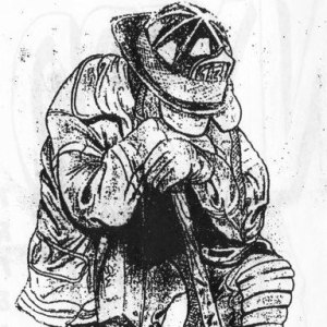 9/11 Fireman drawn by my uncle, Frank Scafo, while he was working with NYCHA to clean up Ground Zero.
