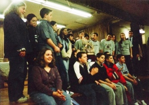 Nativity B.V.M. Class of 2000 with the MLB Trophy--November 1999.